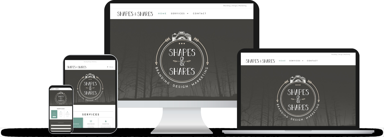 Web Design Shapes & Shares