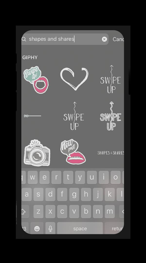 Instagram Gif Sticker Design Shapes & Shares